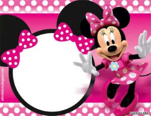 Free Printable Minnie Mouse Birthday Invitations – Bagvania with regard to Minnie Mouse Card Templates