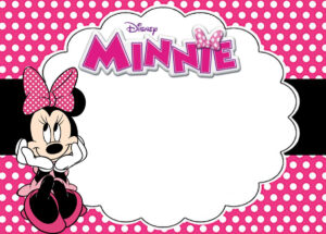 Free Printable Minnie Mouse Birthday Party Invitation Card with regard to Minnie Mouse Card Templates