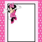 Free Printable Minnie Mouse Invitation Card | Minnie Mouse With Minnie Mouse Card Templates
