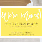 Free Printable Moving Announcement Templates Intended For Free Moving House Cards Templates