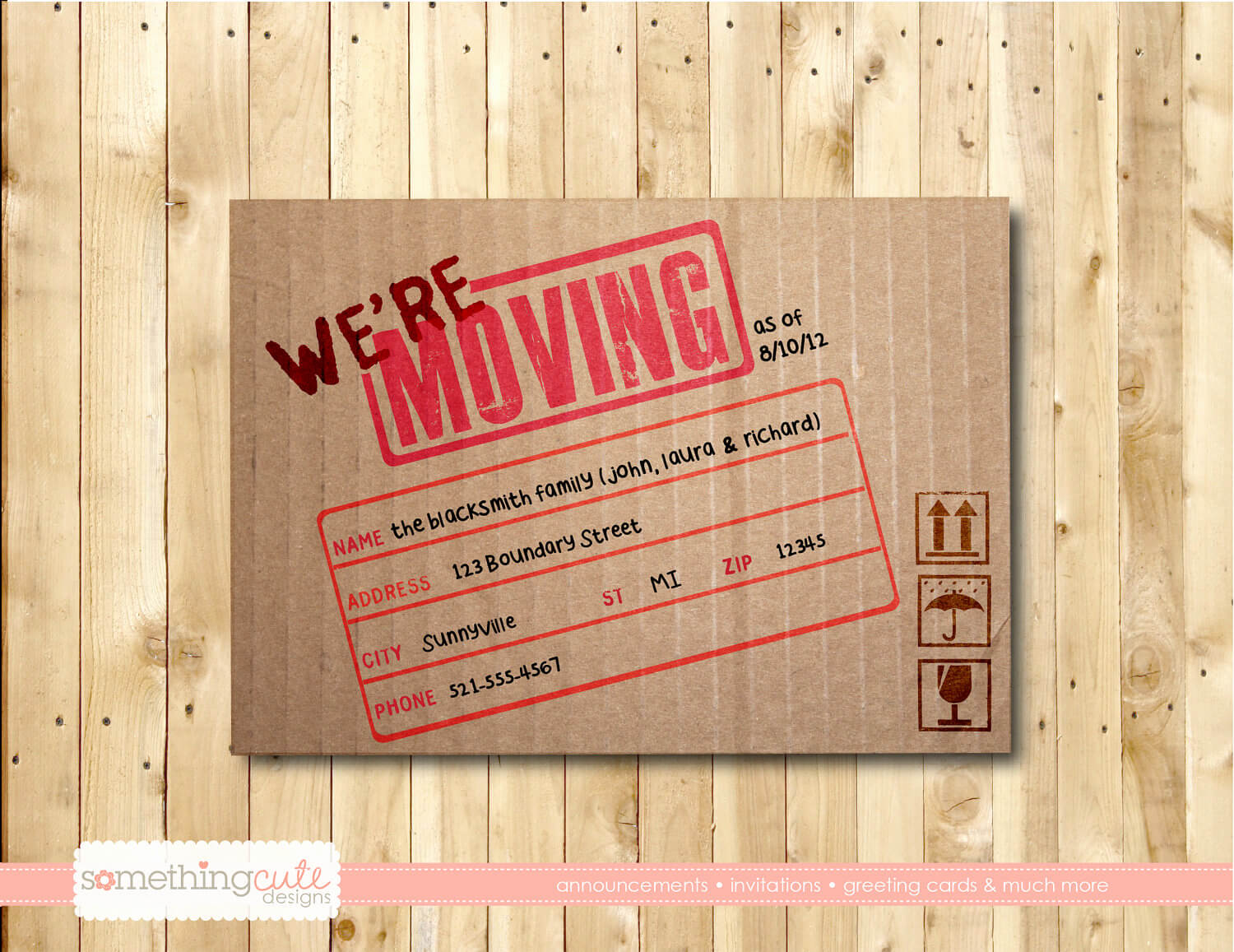 Free Printable Moving Announcement Templates Of Vintage For Free Moving House Cards Templates