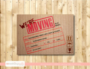 Free Printable Moving Announcement Templates Of Vintage intended for Moving House Cards Template Free