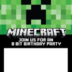 Free Printable Online Invitations Invitation Card Maker With Minecraft Birthday Card Template