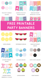 Free Printable Party Banners From @chicfetti | Alissa's inside Sweet 16 Banner Template