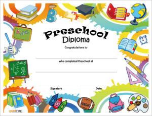 Free Printable Preschool Diplomas | Preschool Classroom in Free Printable Graduation Certificate Templates