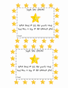 Free Printable Punch Card Template Of Best S Of Student pertaining to Reward Punch Card Template