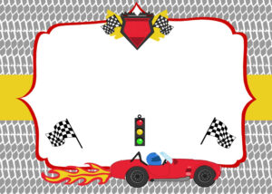 Free Printable Race Car Birthday Party Invitations within Blank Race Car Templates