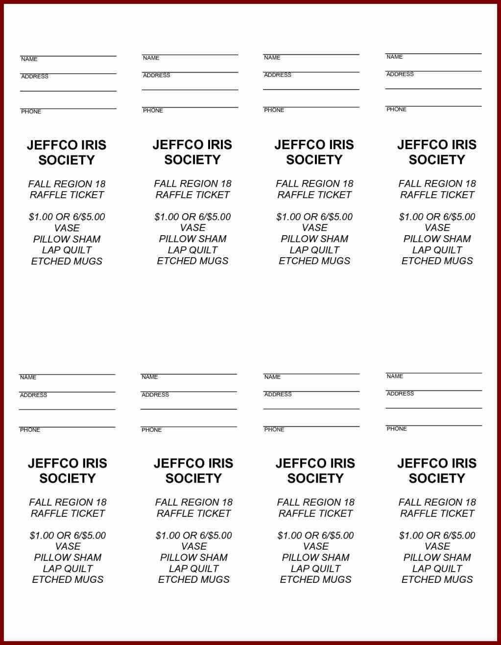 Free Printable Raffle Ticket Template Easytouse Free Raffle Inside Free Raffle Ticket Template For Word