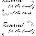 Free Printable Reserved Seating Signs For Your Wedding Regarding Reserved Cards For Tables Templates