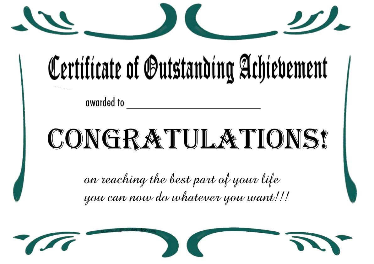 Free Printable Retirement Certificate | Retirement Party For Retirement Certificate Template