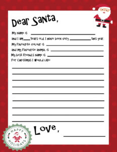 Free Printable Santa Letter Template | Holiday Christmas Intended For Santa Letter Template Word