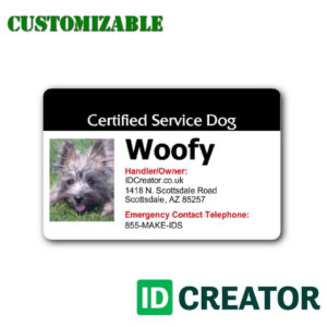 Free Printable Service Dog Id Card Template intended for Service Dog Certificate Template