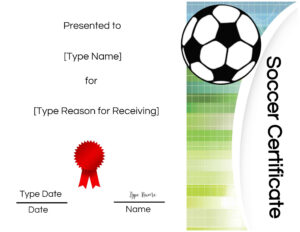 Free Printable Soccer Certificate Templates Award Maker Edit with regard to Soccer Certificate Template