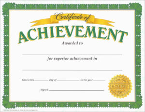 Free Printable Soccer Certificate Templates Of Achievement pertaining to Certificate Of Accomplishment Template Free
