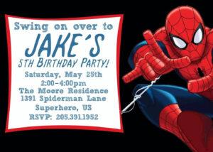 Free Printable Spiderman Birthday Invitation Templates intended for Superhero Birthday Card Template