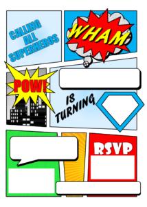 Free Printable Superhero Birthday Cards – Hizir.kaptanband.co regarding Superhero Birthday Card Template