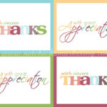 """Free Printable """"thank You"""" Cards #thanksgiving #giftofthanks Intended For Thank You Card For Teacher Template"""