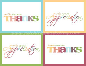 "Free Printable ""thank You"" Cards #thanksgiving #giftofthanks intended for Thank You Card For Teacher Template"