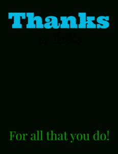 Free Printable: Thanks A Latte Coffee Gift Card – Smashed pertaining to Thanks A Latte Card Template
