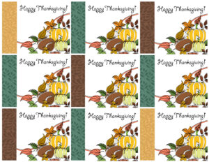 Free Printable Thanksgiving Place Cards — Also Great For with regard to Thanksgiving Place Card Templates