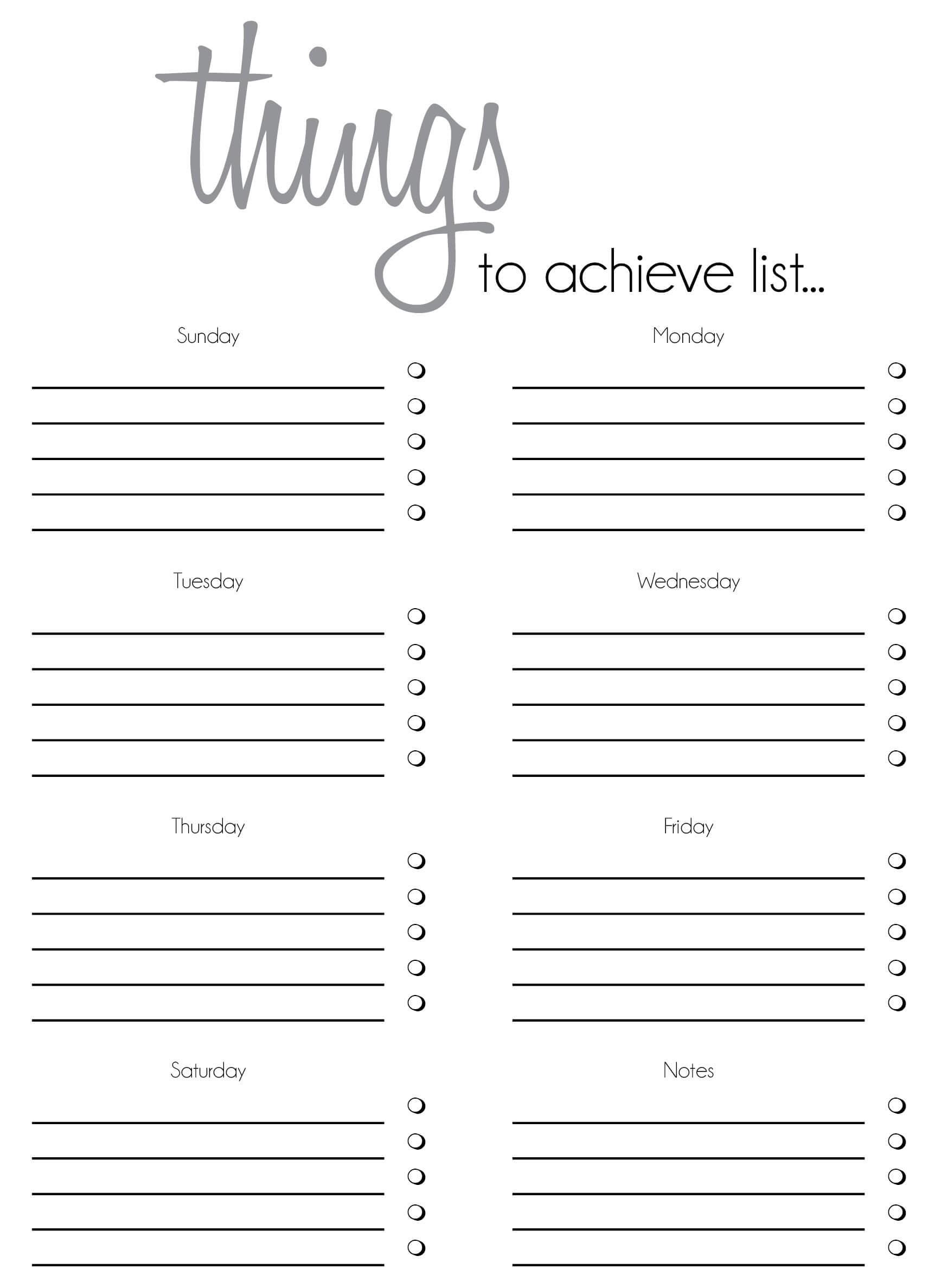 Free Printable To Do List Templates | Latest Calendar Regarding Blank To Do List Template