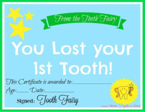 Free Printable Tooth Fairy Certificate | 40 | Tooth Fairy for Tooth Fairy Certificate Template Free