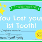 Free Printable Tooth Fairy Certificate | 40 | Tooth Fairy With Free Tooth Fairy Certificate Template