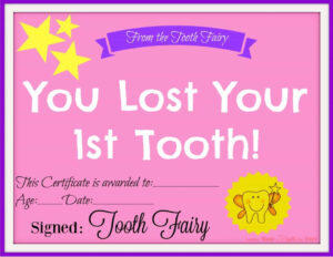 Free Printable Tooth Fairy Certificate – Another Mum Fights within Free Tooth Fairy Certificate Template