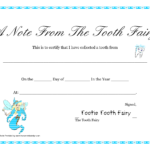 Free Printable Tooth Fairy Letter | Tooth Fairy Certificate In Free Tooth Fairy Certificate Template