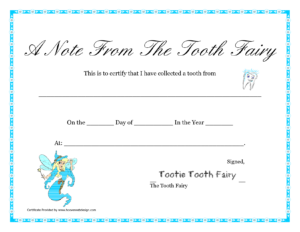 Free Printable Tooth Fairy Letter | Tooth Fairy Certificate pertaining to Tooth Fairy Certificate Template Free