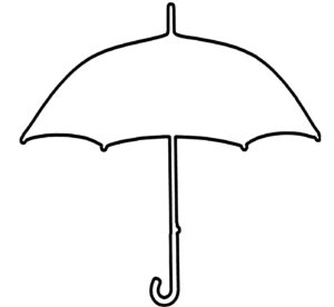 Free Printable Umbrella Template, Download Free Clip Art pertaining to Blank Umbrella Template