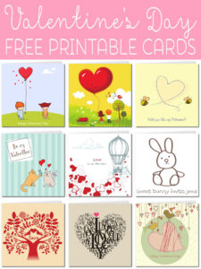 Free Printable Valentine Cards within Valentine Card Template For Kids