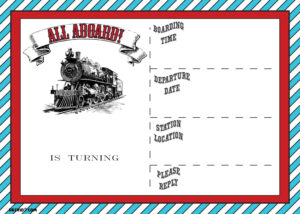 Free Printable Vintage Train Ticket Invitation | Free in Blank Train Ticket Template