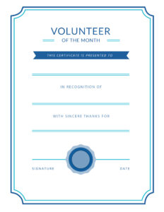 Free Printable Volunteer Appreciation Certificates | Signup In Volunteer Award Certificate Template