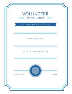 Free Printable Volunteer Appreciation Certificates | Signup throughout Volunteer Certificate Templates