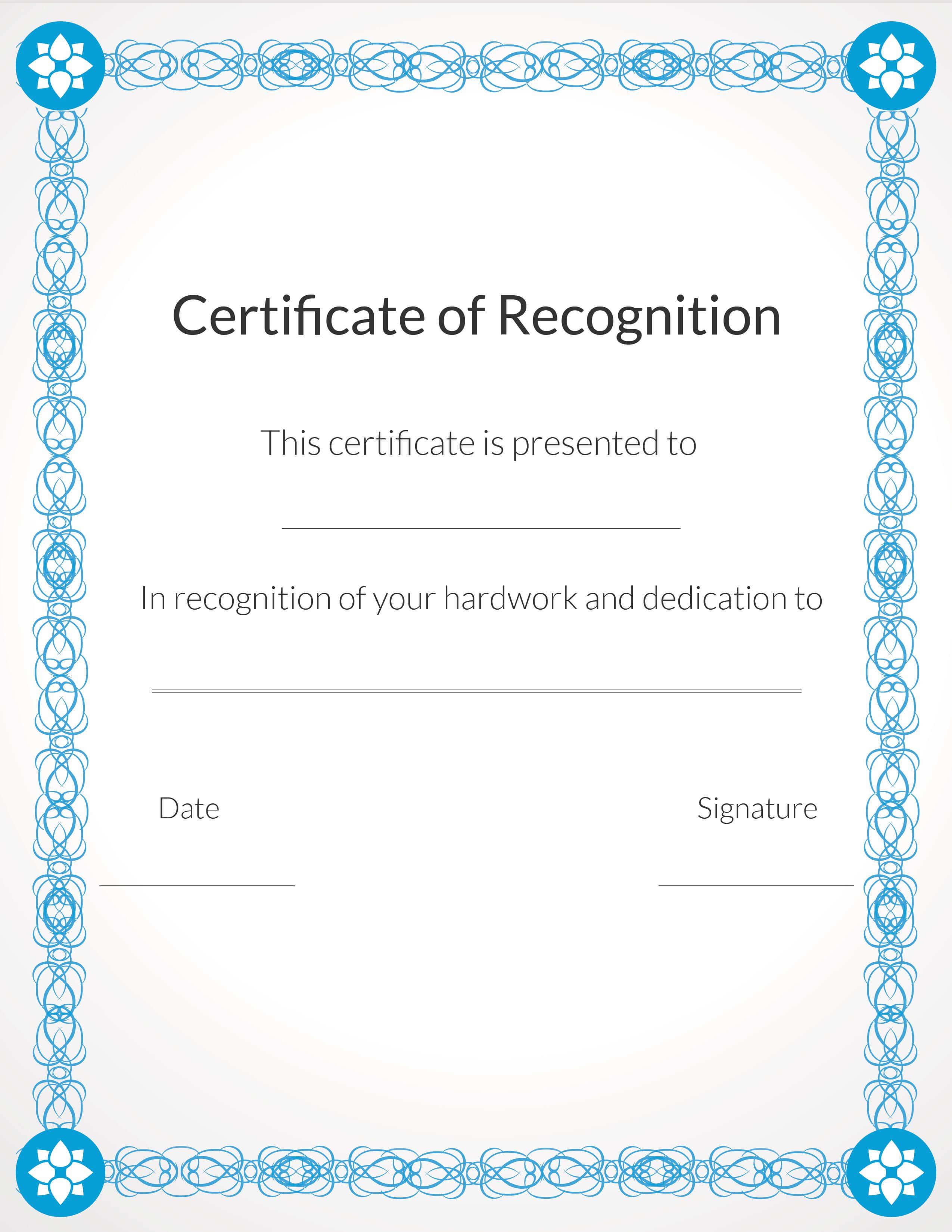 Free, Printable Volunteer Recognition And Appreciation In Volunteer Award Certificate Template