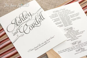 Free Printable Wedding Programs Templates | Request A Custom throughout Free Printable Wedding Program Templates Word