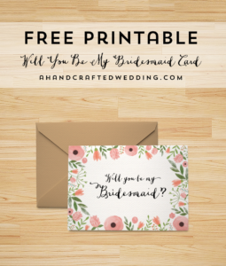 Free Printable Will You Be My Bridesmaid Card | | Freebies within Will You Be My Bridesmaid Card Template