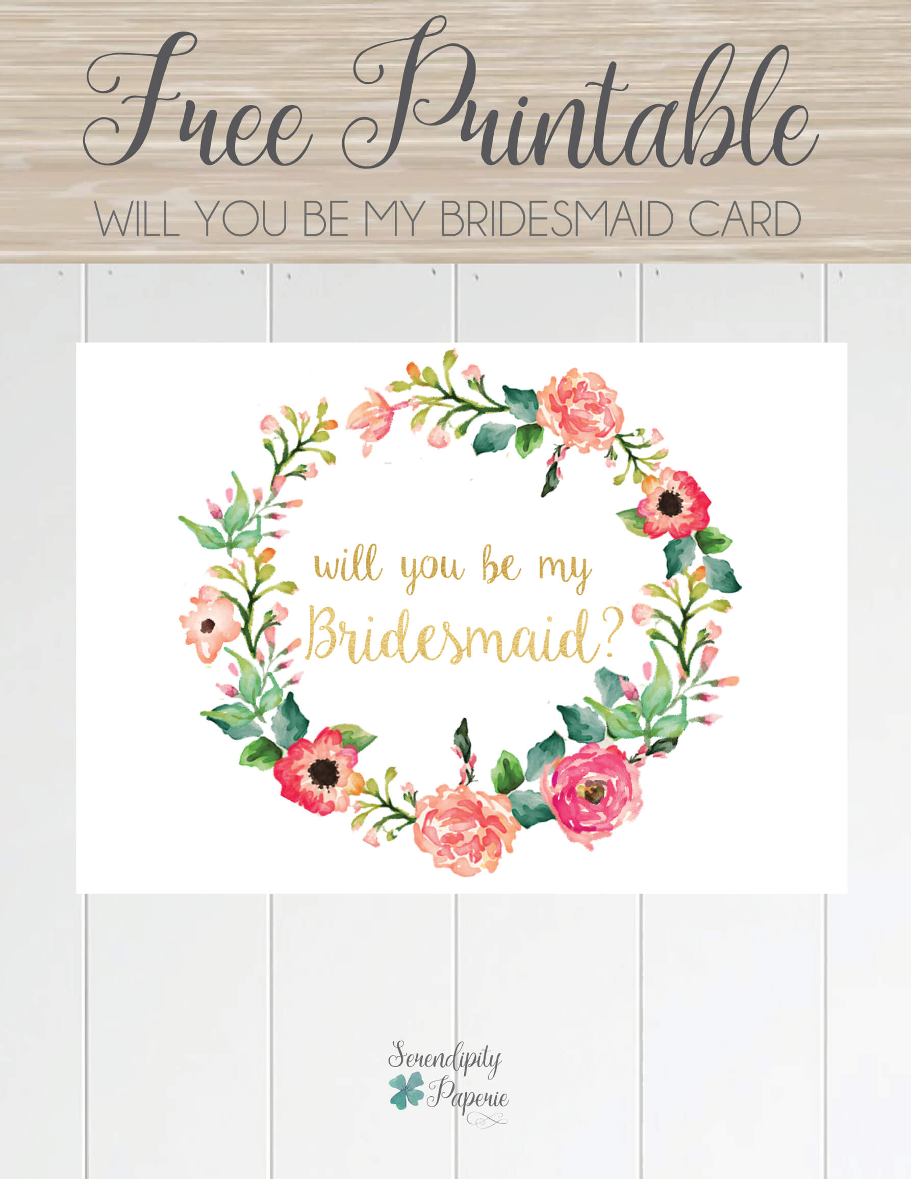 Free Printable Will You Be My Bridesmaid Card. Only At With Will You Be My Bridesmaid Card Template