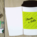 """Free Printables} """"thanks A Latte"""" Cut Out Gift Card Holder 