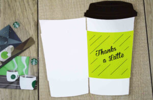 """Free Printables} """"thanks A Latte"""" Cut-Out Gift Card Holder 