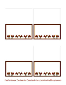 Free Printables: Thanksgiving Place Cards - Home Cooking for Thanksgiving Place Card Templates
