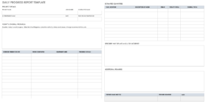 Free Project Report Templates | Smartsheet in Daily Project Status Report Template
