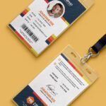 Free Psd : Creative Office Identity Card Template Psd On Behance Pertaining To Conference Id Card Template