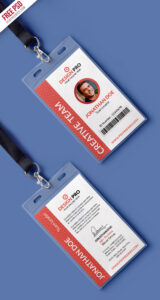 Free Psd : Office Identity Card Template Psd | Free Psd | Ui with regard to Id Card Design Template Psd Free Download