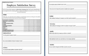 Free Questionnaire Template Word – Top Image Gallery Site inside Employee Satisfaction Survey Template Word