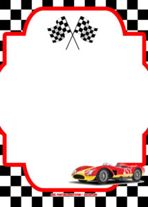 Free Race Car Birthday Invitation Template – | Kids Party with Blank Race Car Templates