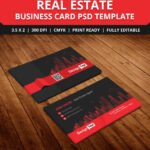 Free Real Estate Agent Business Card Template Psd | Free Inside Real Estate Agent Business Card Template
