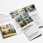 Free Real Estate Trifold Brochure Template In Psd, Ai With 3 Fold Brochure Template Psd Free Download
