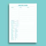 Free Recipe Card Templates For Recipe Card Design Template
